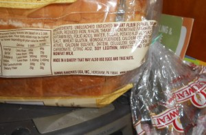 Bread Label with new ingredient