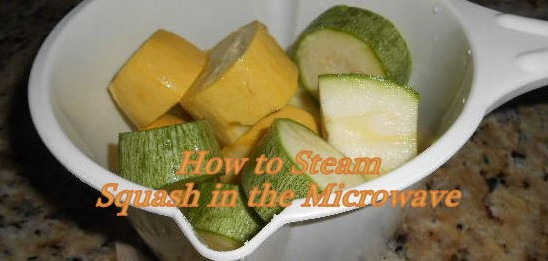 It's easy to steam squash in the microwave