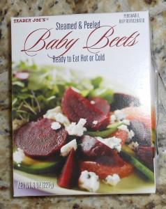 Baby beets precooked and available at Trader Joe's