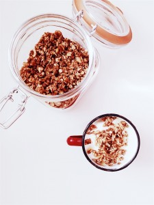 Keep granola in a sealed container for freshness