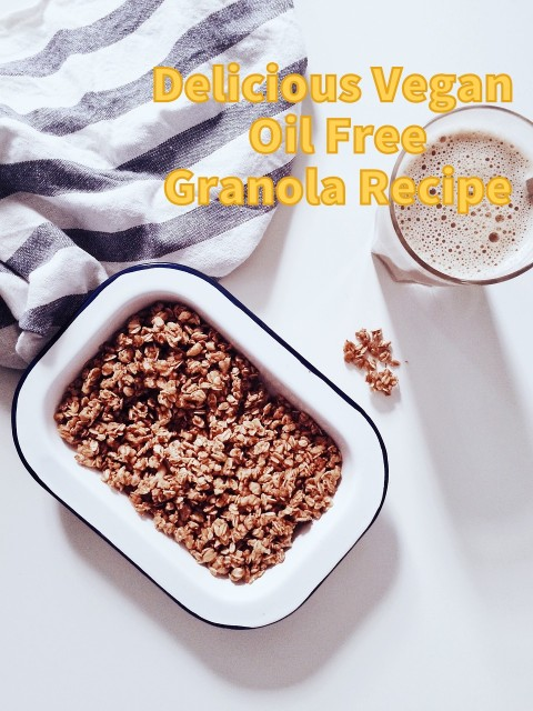 It's easy to make vegan oil free granola without compromising the crunch.