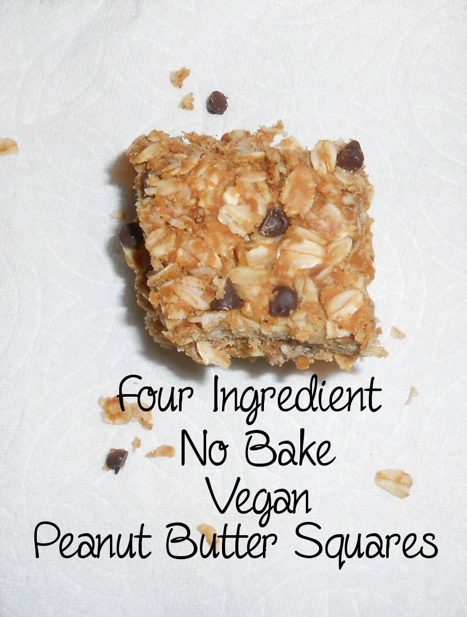 No bake vegan peanut butter refrigerator squares