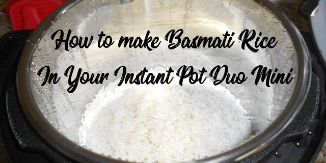 basmati rice instant pot